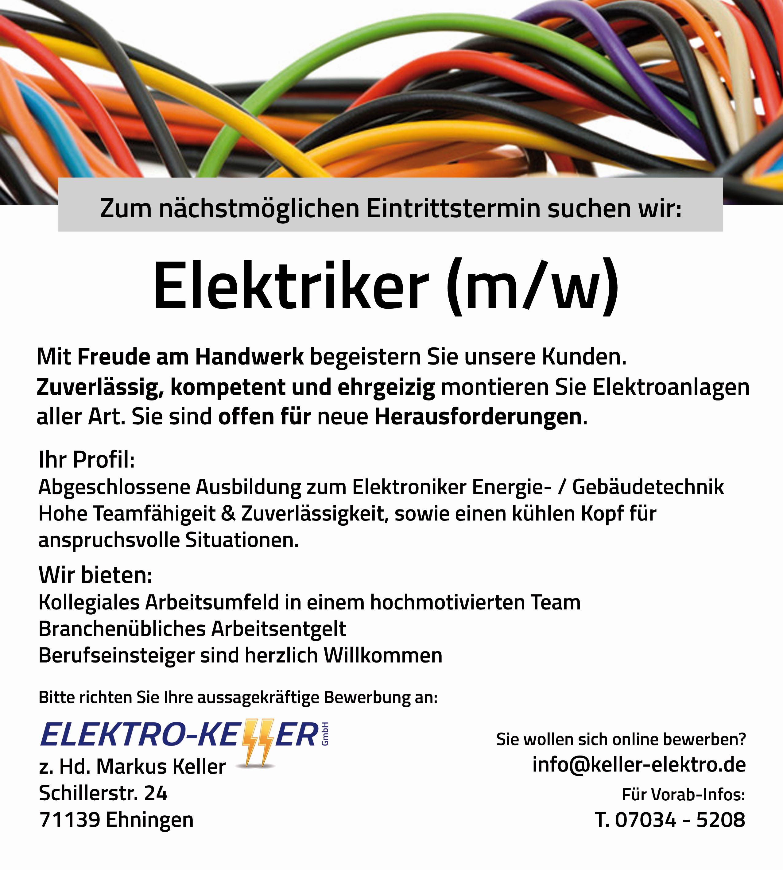 ELEKTRO-KELLER GmbH Ehningen - Kompetent-Professionell-Fair